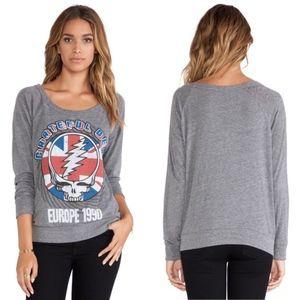 Chaser Grateful Dead Gray Graphic Sweatshirt